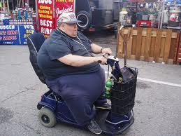 fat person 'mobility scooter'