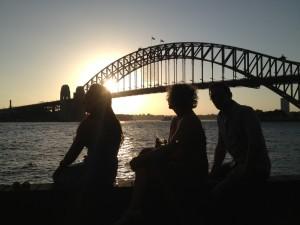 NN & guests enjoying the seaside view pre feast