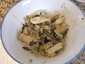 Creamy paua finished dish