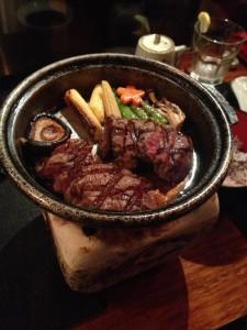 Sizzling waygu beef