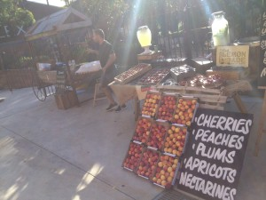 fruit market and breaky BBQ