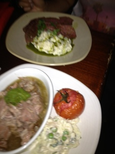 The lamb Shoulder & the Corned Beef