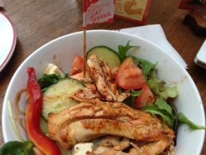 Hot Mediterranean  chicken salad
