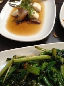 Fish and greens