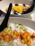 Coconut sago & black sticky rice