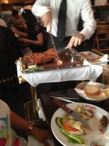 Roast pork belly and crackling