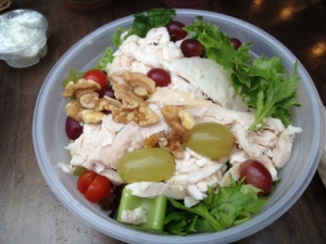 Chicken, grape, celery & walnut salad