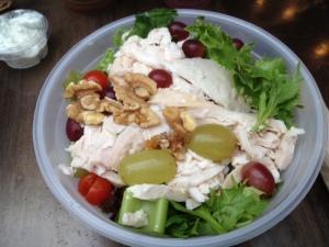 Chicken, grape, celery & walnut salad