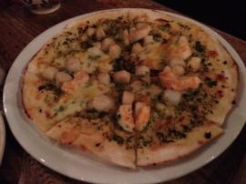 scallop pizza
