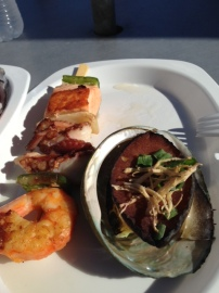 Abalone and skewer