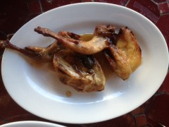 Char-Grilled Quail with Pomegranate Sauce