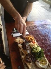 Harissa Marmalade Beef shish kebab