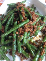 Green beans with pork mince