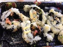 Meat-less sushi remains