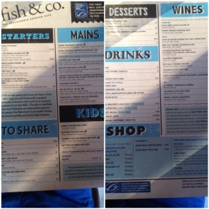 Fish & Co. menu